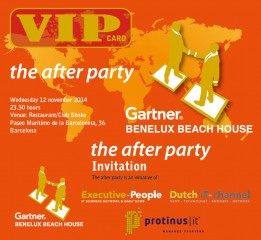 Protinus medeorganisator After Party op Gartner Holland House in Barcelona