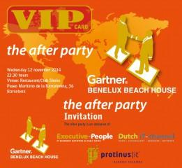 Protinus medeorganisator After Party op Gartner Holland House in Barcelona